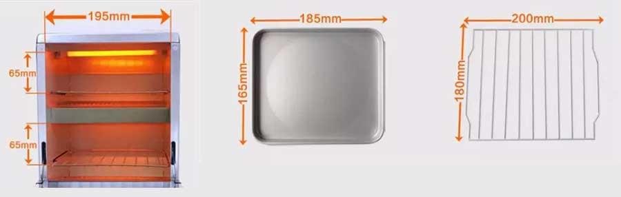 MF54 HEAT CABINET 250 dimensions